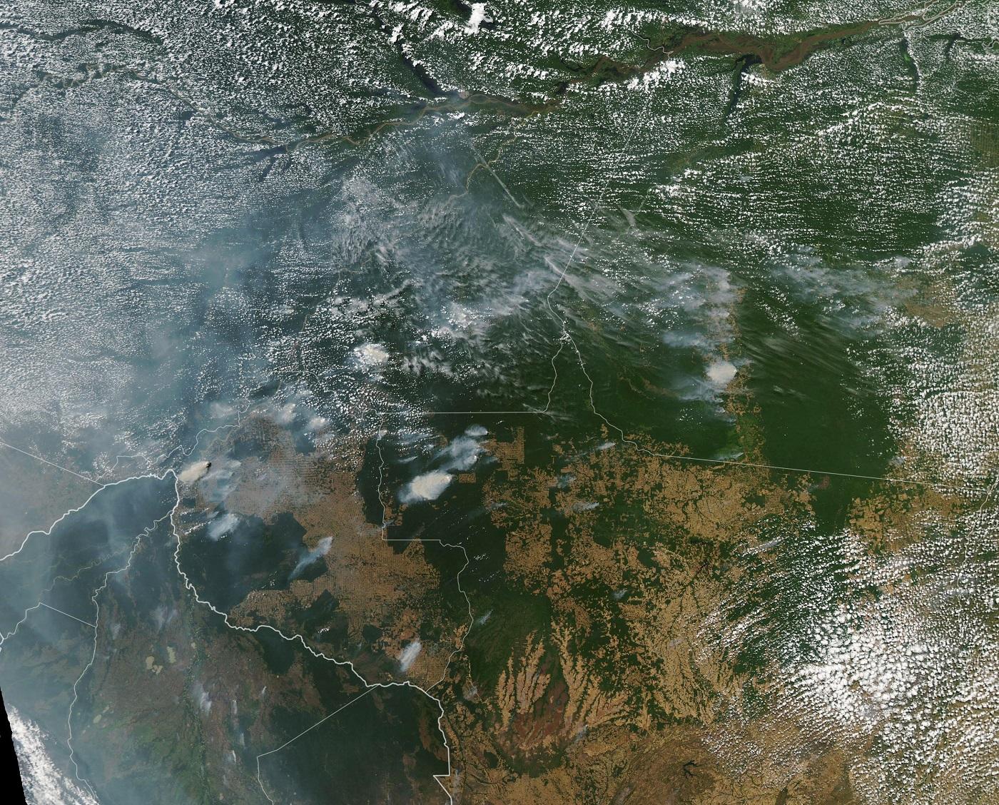 Brazil - Burning Amazon rain forests by NASA